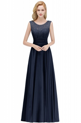 A-line Floor Length Lace Top Sleeveless Chiffon Bridesmaid Dress In Stock_3