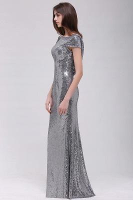 Mermaid Sparkly Sequins Scoop Short-Sleeves Floor-Length Bridesmaid Dresses_3