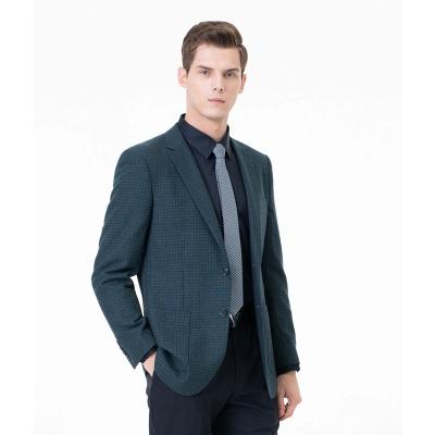 Customize Lattice Two-piece Suit Peak Lapel Single Breasted Career Suits_1