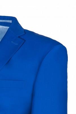 Royal Blue Peak Lapel High Quality Fashion Custom Made Wedding Suit_5