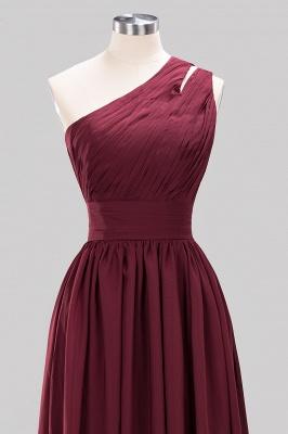 Elegant A-Line Burgundy One-Shoulder Sleeveless Ruffles Floor-Length  Bridesmaid Dresses_10