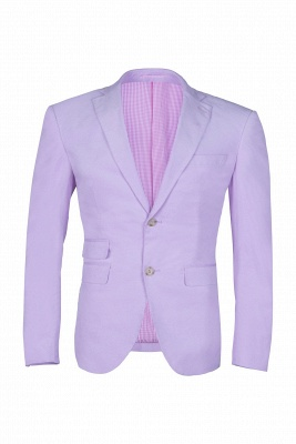 Custom Made Hot Recommend Lavender Peak Lapel Single Breasted Wedding Suit_1