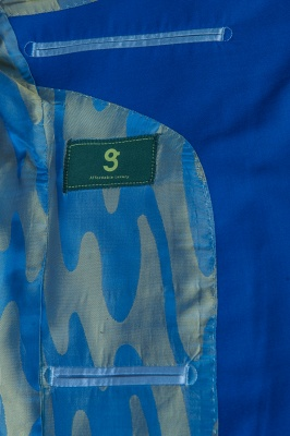 Royal Blue Peak Lapel High Quality Fashion Custom Made Wedding Suit_6