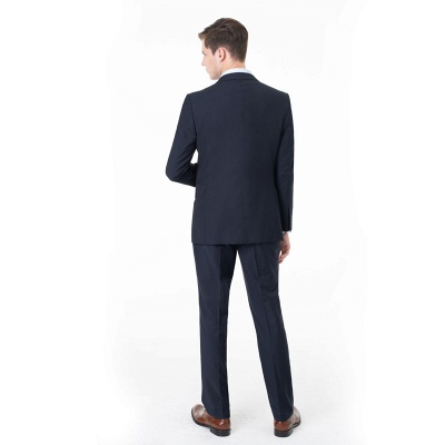 Peak Lapel Two Pieces with Pants Two Button Comfortable Casual Suits_2