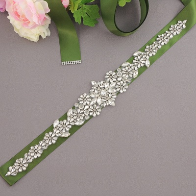 Gorgeous Satin Beadings Wedding Sash_6