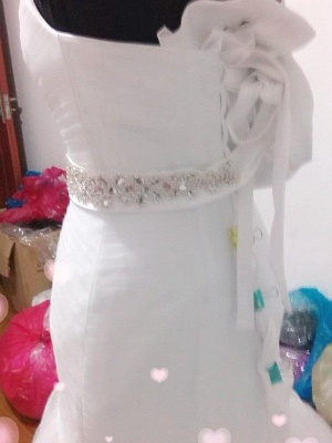 Tulle Floor-Length Beaded Sleeveless Sweetheart Sexy Mermaid Wedding Dresses_4