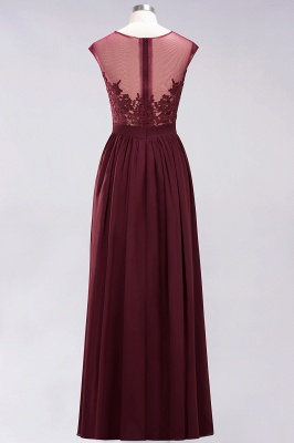 A-line  Lace Jewel Sleeveless Floor-Length Bridesmaid Dresses with Appliques_9