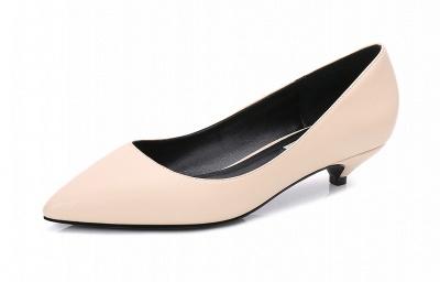 Woman Pointed Toe Kitten Heel Wedding Shoes_4