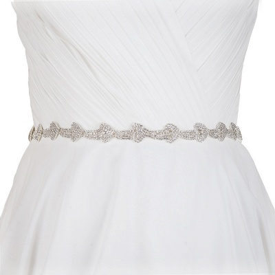 Cheap Satin Rhinestone Wedding Sashes_2