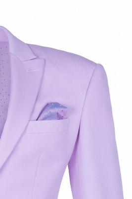 Hot Recommend Peak Lapel High Quality Two Button Lavender Casual Suit_4