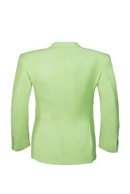 High Quality Sage Two Button Peak Lapel Latest Design Wedding Suit_3