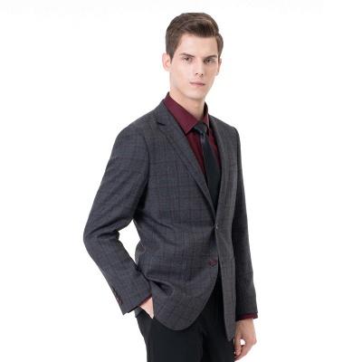 Career Suits Two Button Single Breasted Lattice Peak Lapel_1
