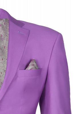 Latest Design High Quality Peak Lapel Single Breasted Two Button Lilac_4