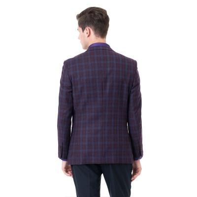 Custom Made Comfortable Lattice Two-piece Suit Peak Lapel_2