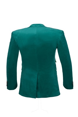 Customize Hot Recommend Single Breasted Peak Lapel Turquoise Groomsmen_3