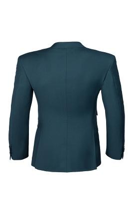 Dark Green Stylish Design Back Vent Peak Lapel Slim Fit Wedding Suit_5