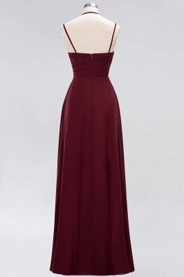 A-line  Spaghetti Straps Sleeveless Ruffles Floor-Length Bridesmaid Dresses_28