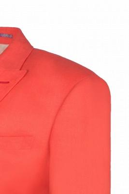 High Quality Latest Design Watermelon Peak Lapel Wedding Suit Back Vent_5