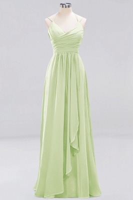 A-line  Spaghetti Straps Sleeveless Ruffles Floor-Length Bridesmaid Dresses_21