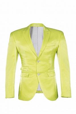 Sage Two Button Latest Design Peak Lapel Wedding Suit Back Vent_1