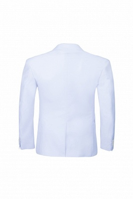 Wedding Prom Suits White Peak Lapel Two Button Single Breasted_5
