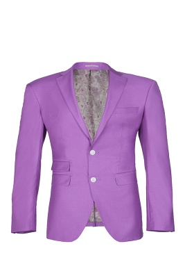 Latest Design High Quality Peak Lapel Single Breasted Two Button Lilac_1