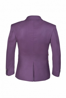 Latest Design Lilac Peak Lapel Single Breasted Wedding Suit Back Vent_3