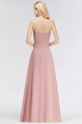 Elegant Ruched Sweetheart Long Chiffon Bridesmaid Dress_2