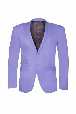 Lavender Peak Lapel Hot Recommend Back Vent Two Button Casual Suit_1