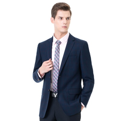 Two-piece Suit Peak Lapel Two Button Single Breasted Slim Fit_3