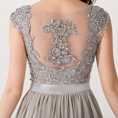 A-line  V-Neck Sleeveless Ruffles Floor-Length Bridesmaid Dress with Appliques_4