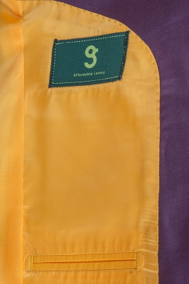 Latest Design Lilac Peak Lapel Single Breasted Wedding Suit Back Vent_6