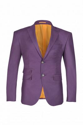 Latest Design Lilac Peak Lapel Single Breasted Wedding Suit Back Vent_1