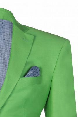 Popular Stylish Design Jade Single Breasted Back Vent Peak Lapel_4
