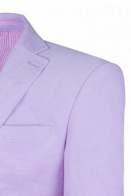Custom Made Hot Recommend Lavender Peak Lapel Single Breasted Wedding Suit_5