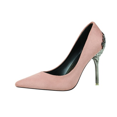 Fashion Pionted Toe High Heel Hollowout Wedding Shoes_4