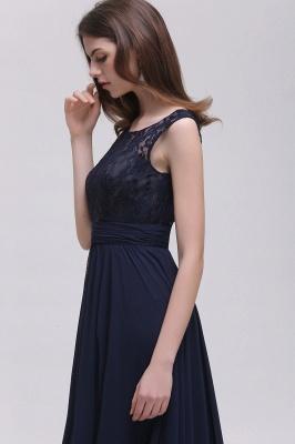 Elegant A-line  Lace Scoop Sleeveless Floor-Length Bridesmaid Dress_5
