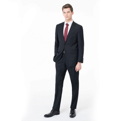 High Quality Peak Lapel Single Breasted Two Pieces with Pants_1
