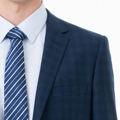 Lattice Two Button Peak Lapel Two Pieces with Pants Comfortable Groomsmen_5