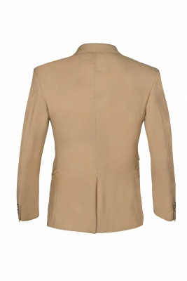 Latest Design Two Button Nude Color Peak Lapel Bridegroom Wedding Suit_2
