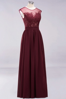 A-line  Lace Jewel Sleeveless Floor-Length Bridesmaid Dresses with Appliques_10