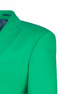 Turquoise Customize Single Breasted Peak Lapel Groomsmen Popular Wedding Suit_5