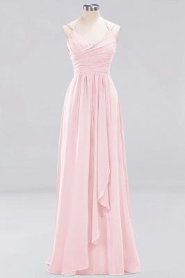A-line  Spaghetti Straps Sleeveless Ruffles Floor-Length Bridesmaid Dresses_2