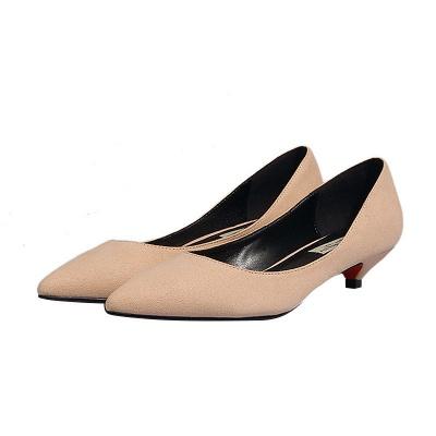 Woman Pointed Toe Kitten Heel Wedding Shoes_2