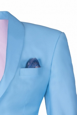Custom Made Pool Shawl Lapel Two Button Single Breasted Wedding Suits_3