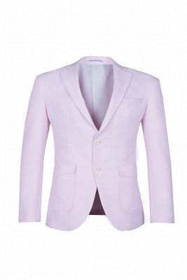 Candy Pink High Quality Single Breasted Peak Lapel Wedding Suit_1