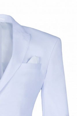 Wedding Prom Suits White Peak Lapel Two Button Single Breasted_3