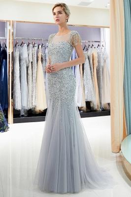 Mermaid Crew Neck Beaded Prom Dress With Tassels | Evening Dress 2019_2
