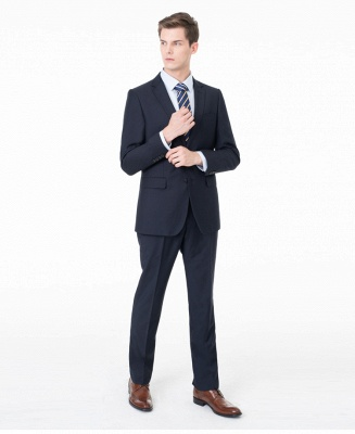 Peak Lapel Two Pieces with Pants Two Button Comfortable Casual Suits_6