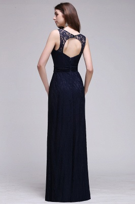 Elegant A-Line Lace Scoop Sleeveless Hollow-Back Floor-Length Bridesmaid Dress_2